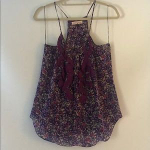Rebecca Taylor floral blouse size 8 made in China